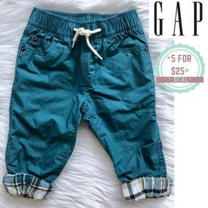 * GAP flannel-lined pull-on pants 18-24 NWOT